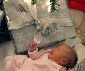 baby, christmas, and gift image