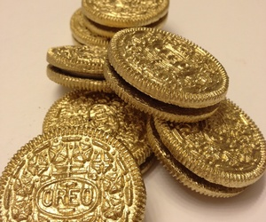 oreo, gold, and food image