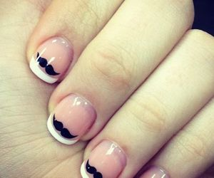 mustache, nails, and love image