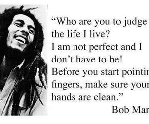 bob marley, quote, and black and white image