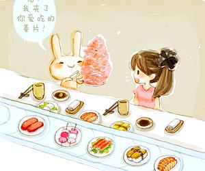 bunny, food, and kawaii image