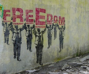freedom and speech image