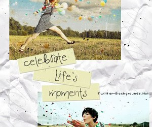 happy, life, and bg image