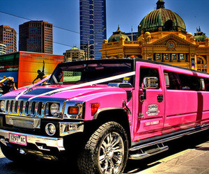 hummer, luxury, and pink image