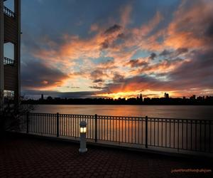 cityscape, hudson river, and new york image