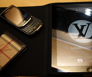 blackberry, Louis Vuitton, and ipad image