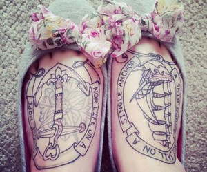 tattoo, anchor, and shoes image