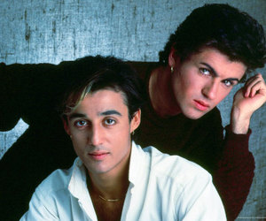 george michael, wham!, and andrew ridgeley image