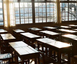 chair, classroom, and student image