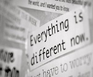 different, everything, and text image