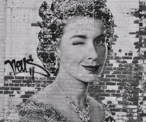 Queen, art, and graffiti image