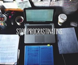 study, procrastinating, and school image