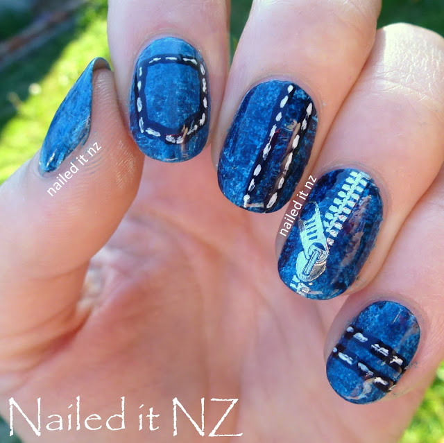 Nailed It Nz Denim Nails Zip Decor Review For Born Pretty Store