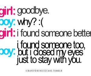 boy, girl, and goodbye image