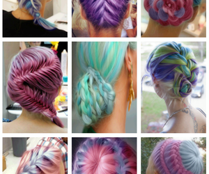 color, hair, and braids image