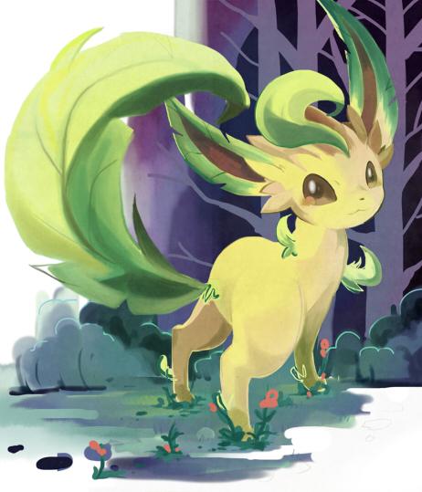 eevee, pokemon, and leafon image