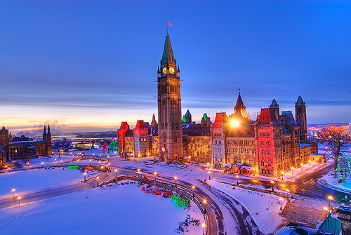 canada, snow, and london image