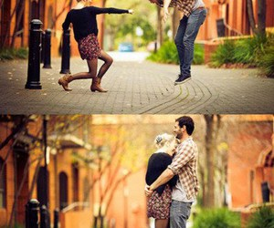 love, couple, and fun image