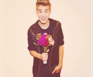 justin bieber, flowers, and justin image