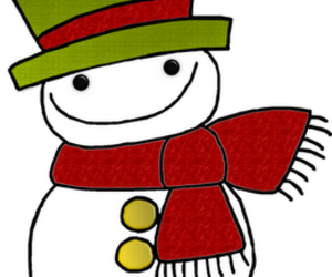 graphic, illustration, and snowman image