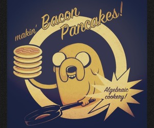 JAKe, adventure time, and pancakes image