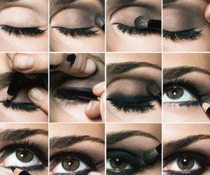 eyes, make up, and smokey eyes image