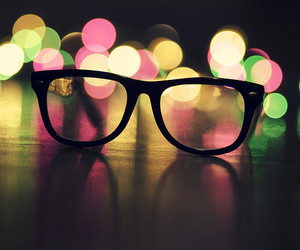 glasses and light image