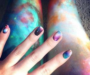 nails, galaxy, and cool image