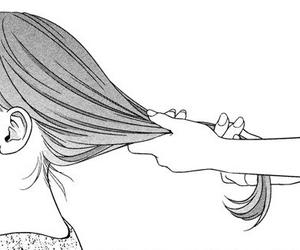 hair, manga, and girl image