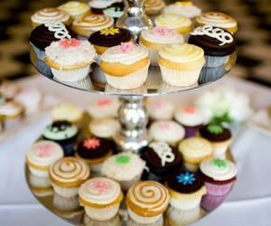 candy, creamy, and cupcakes image