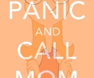 panic, keep calm, and phineas and ferb image