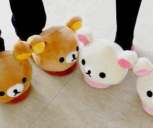 cute, bear, and slippers image