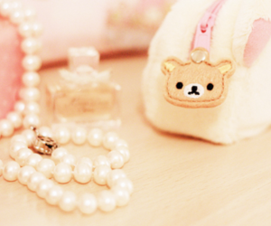 pearls, perfume, and pink image