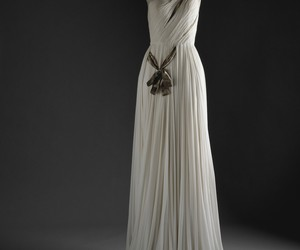 dress, gown, and white image