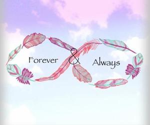 forever, always, and feather image