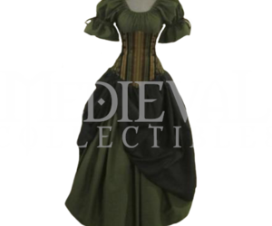 corset, dress, and medieval image