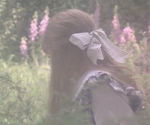 girl, bow, and ribbon image