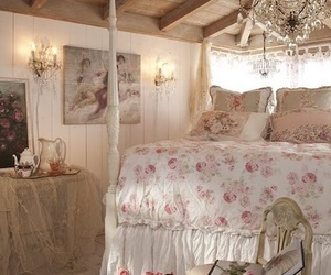 bedroom, vintage, and bed image