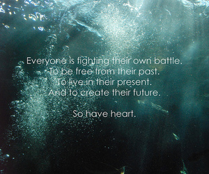 quote, heart, and text image