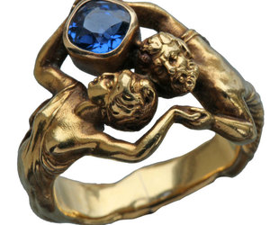 Art Nouveau, gold, and ring image