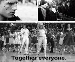 harry potter, the hunger games, and high school musical image