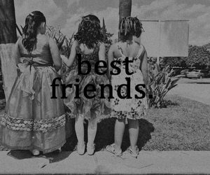 best friends, black and white, and lovely image