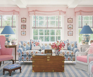 pastel, pink, and interior image