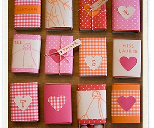 boxes, hearts, and cute image