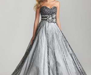 black an silver ball gown image