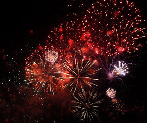 blue, explosion, and firework image