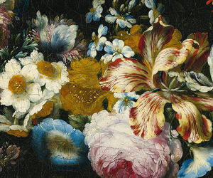 detail, painting, and flowers image