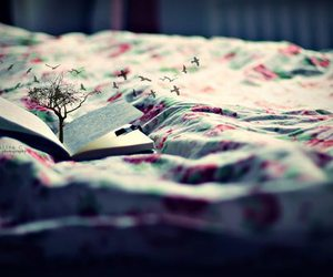 book, bird, and tree image