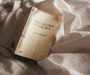 book, the catcher in the rye, and bed image