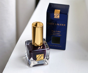 nails, blue, and estee lauder image